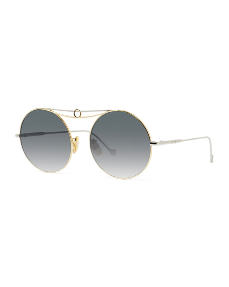 Loewe Round Metal Ring Gradient Sunglasses