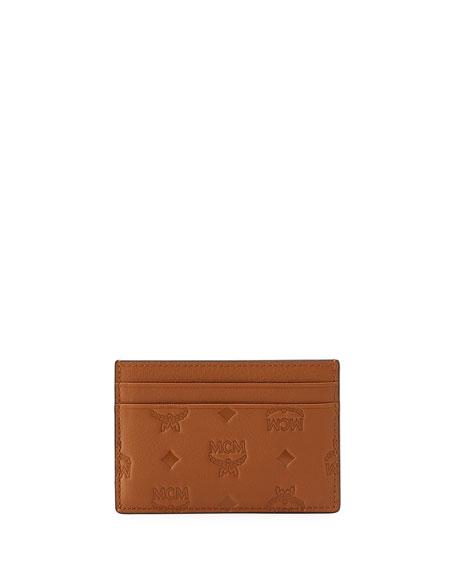 MCM Klara Mini Leather Card Case