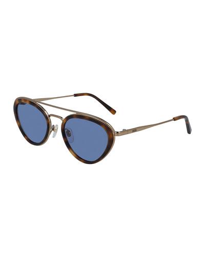 Classic Logo Metal Cat-Eye Sunglasses