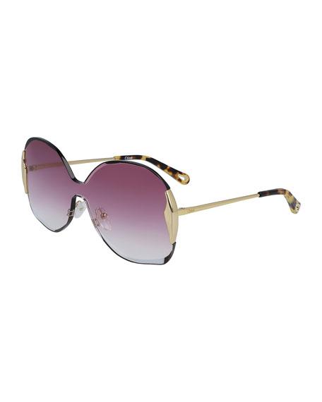 Chloe Curtis Gradient Shield Sunglasses