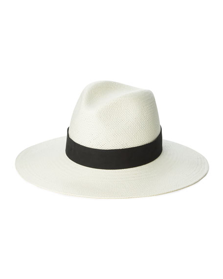 Janessa Leone Corbin Straw Fedora Hat