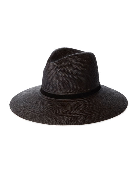 Janessa Leone Selma Straw Fedora Hat