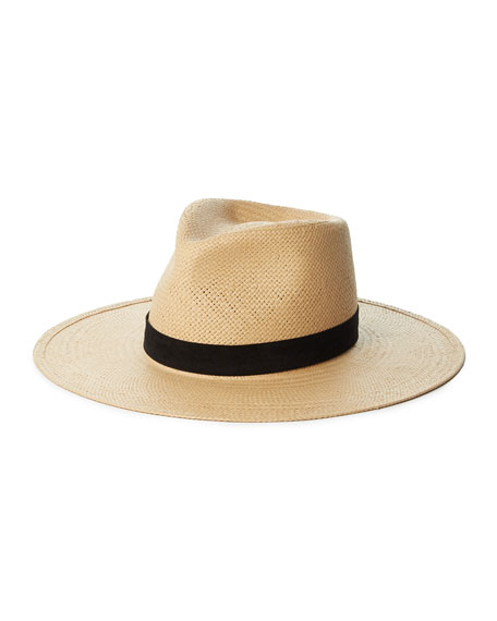 Janessa Leone Arlo Straw Fedora Hat