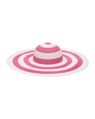 Sunny Two-Tone Striped Wide Brim Sun Hat