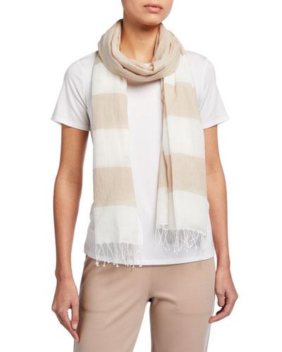 Striped Organic Cotton Scarf