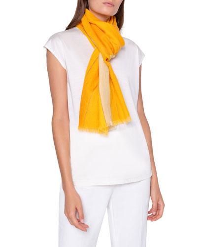 Striped Cashmere Silk Scarf