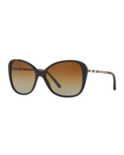 Bold Squared Sunglasses Bow Accent in Various Colors Black Frame