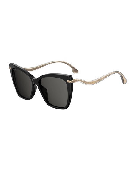 Jimmy Choo Selby Polarized Butterfly Acetate Sunglasses