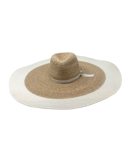 Gigi Burris Clemens Large Brim Straw Sun Hat