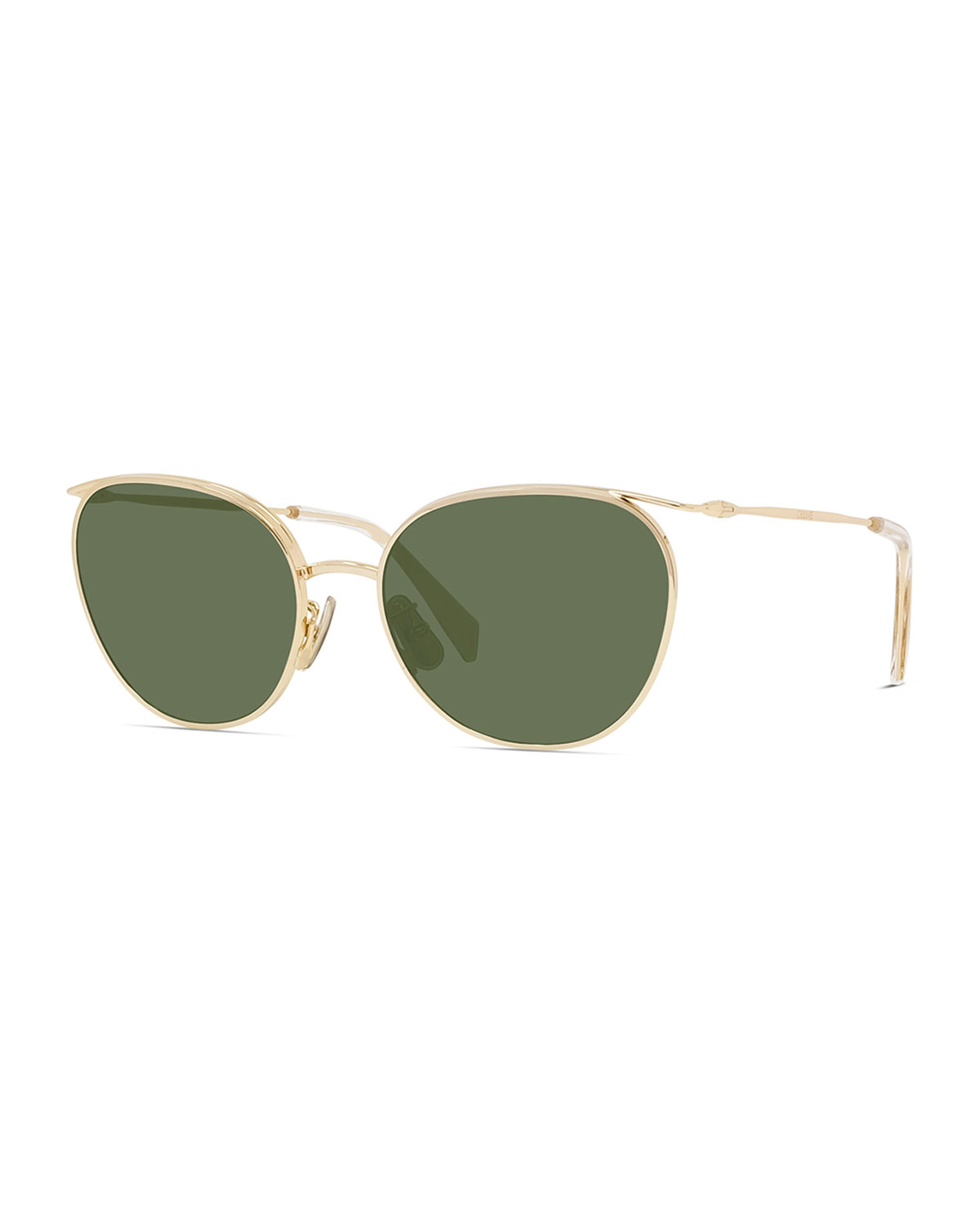 Oval Mineral Lens Sunglasses