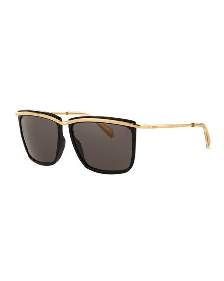 Celine Metal Square Sunglasses