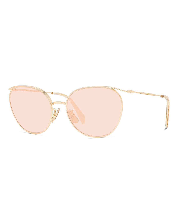 Oval Glitter Lens Sunglasses