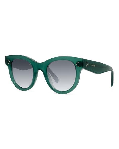 Celine Round Acetate Sunglasses