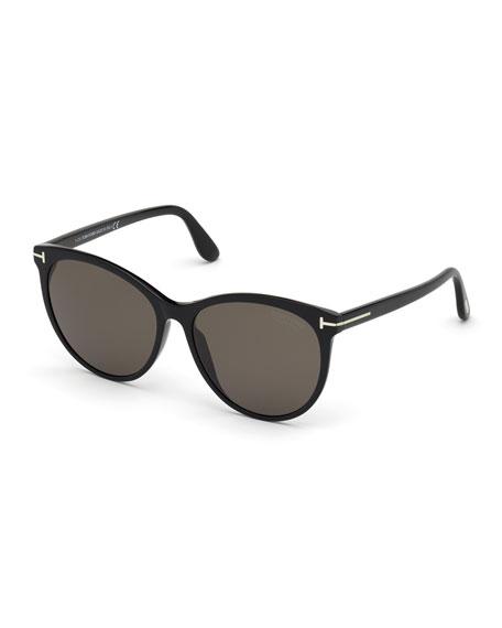 TOM FORD Maxim Cat-Eye Polarized Acetate Sunglasses
