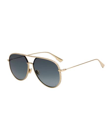 Dior Aviator Cutout Metal Sunglasses