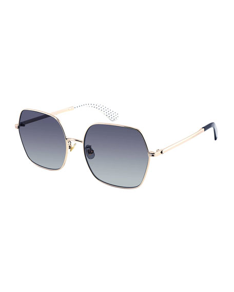 kate spade new york eloygs stainless steel square polarized sunglasses