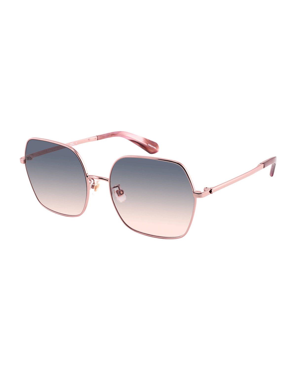 eloygs stainless steel square sunglasses