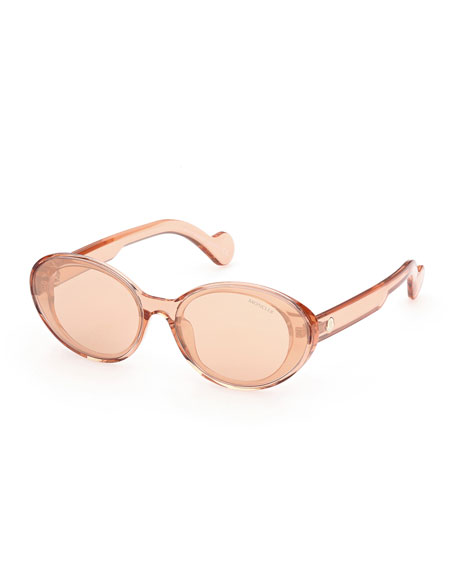 Moncler Oval Mirrored Acetate Sunglasses
