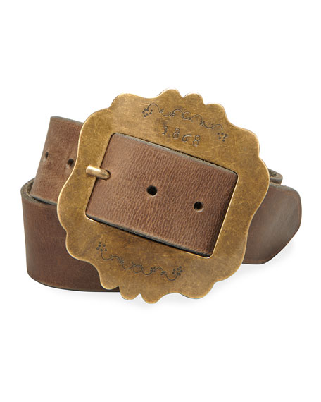 Isabel Marant Lewa Antique Finished Leather Belt