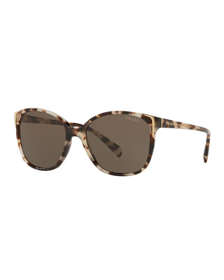 Prada Square Gradient Arrow-Edge Sunglasses