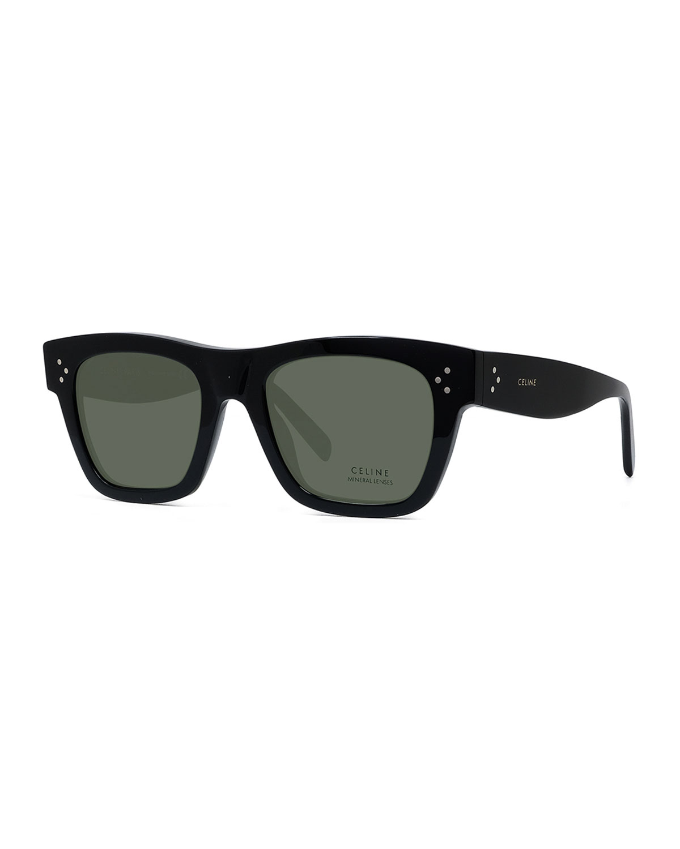 Polarized Rectangular Acetate Sunglasses
