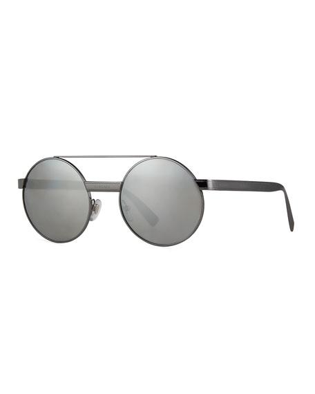 Versace Round Metal Sunglasses