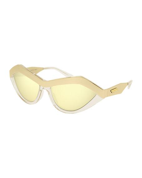 Bottega Veneta Two-Tone Cat-Eye Sunglasses