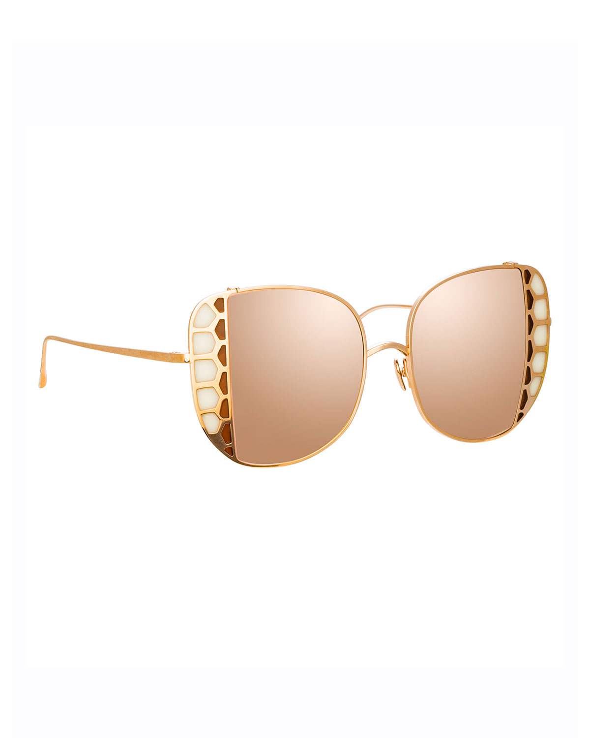 Amelia 18K Rose Gold Stained Glass Butterfly Sunglasses