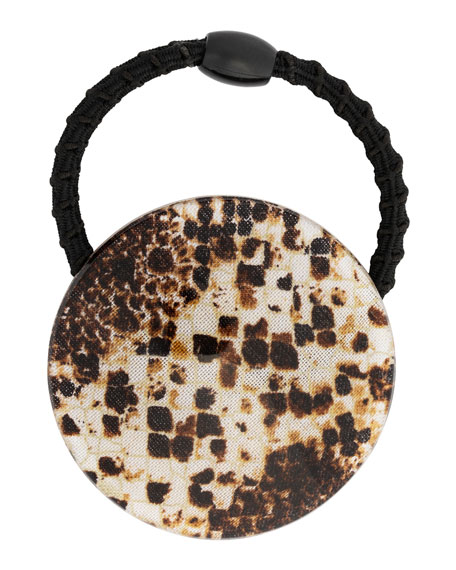 France Luxe Printed Disc Ponytail Holder