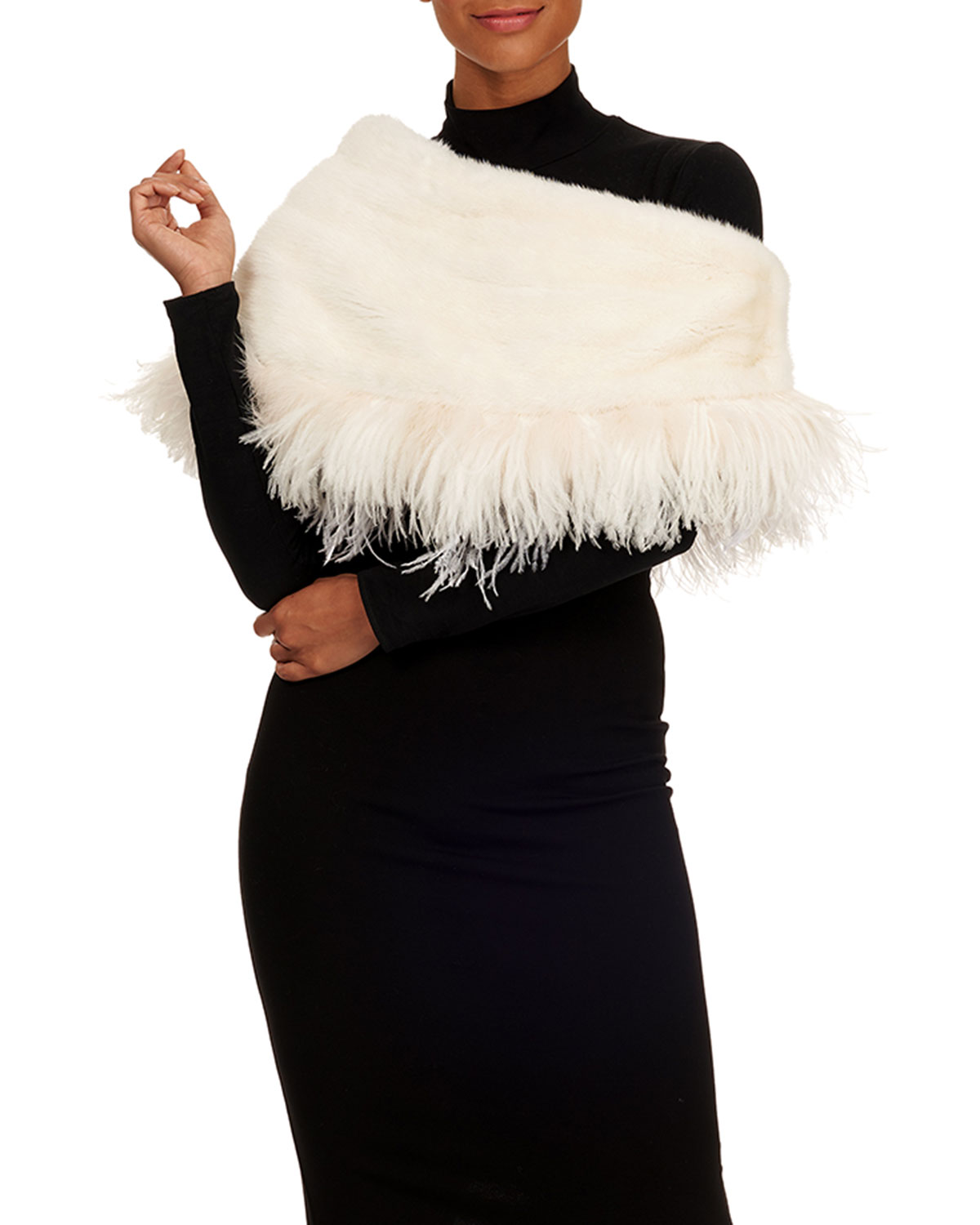Feathered Mink Cape