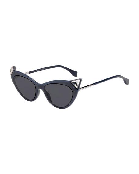 Fendi Monochromatic Cat-Eye Sunglasses