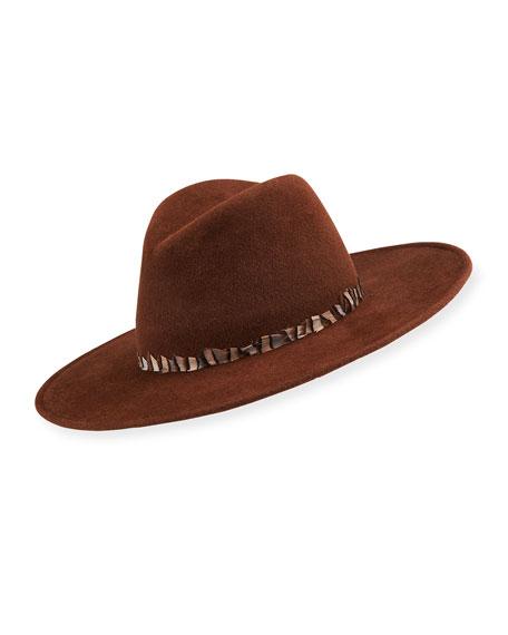 Gigi Burris Jeanne Rabbit Felt Fedora Hat