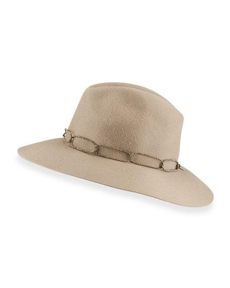 Brunello Cucinelli Rabbit Felt Fedora Hat
