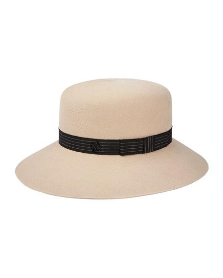 Maison Michel New Kendall Rabbit Felt Fedora Hat