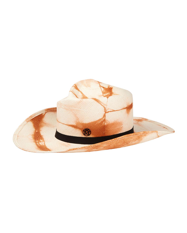 Charles Tie Dye Straw Cowboy Hat