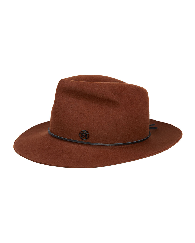 Johnny Rabbit Felt Fedora Hat w/ Leather Band