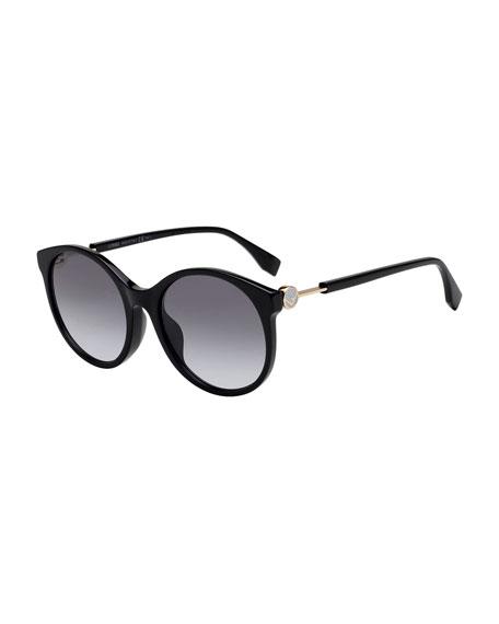 Fendi Gradient Round Acetate Sunglasses