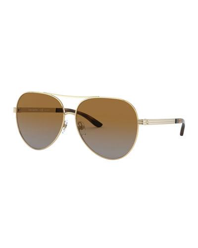 Black and Brown Glitter Me Aviator Sunglasses