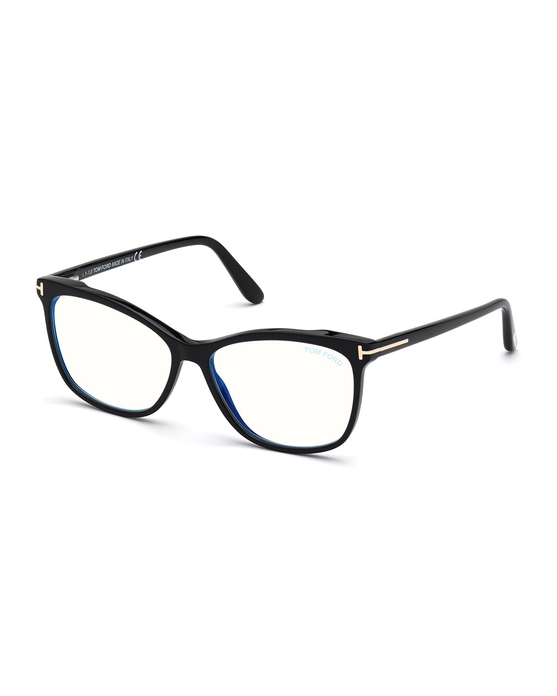 Blue-Light Blocking Square Acetate Convertible Optical Glasses