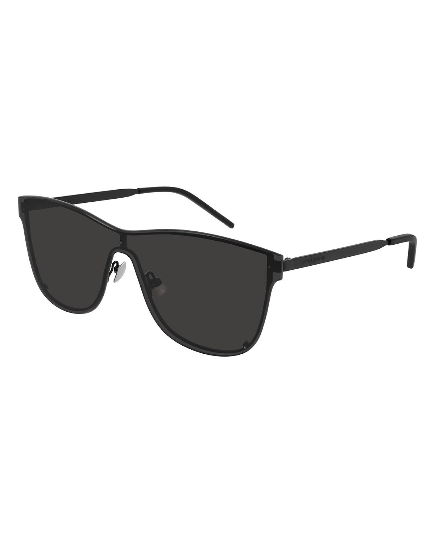 Over Mask Rimless Acetate Shield Sunglasses