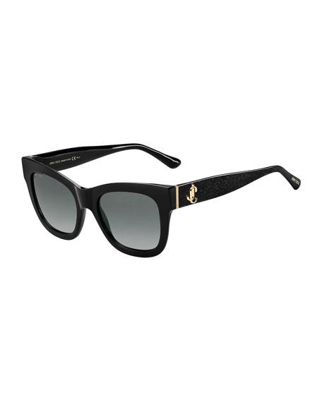 Jimmy Choo Oversized Square Acetate Sunglasses