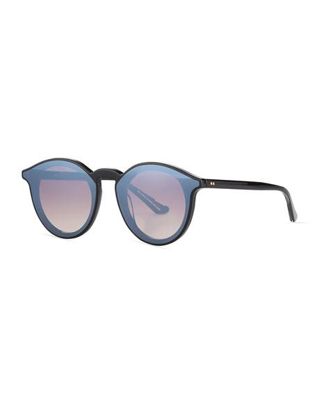 KREWE Collins Round Acetate Sunglasses