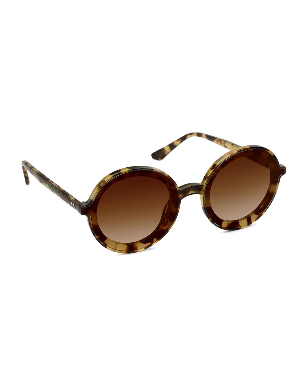 Louisa Oversized Round Acetate Sunglasses