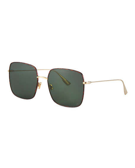 Dior Diostellaire1 Square Metal Sunglasses