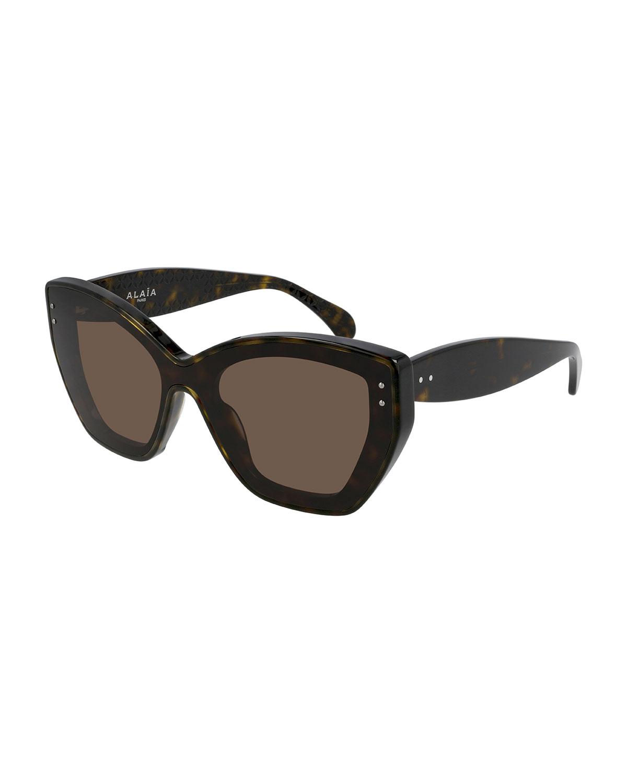 Geometric Acetate Cat-Eye Sunglasses