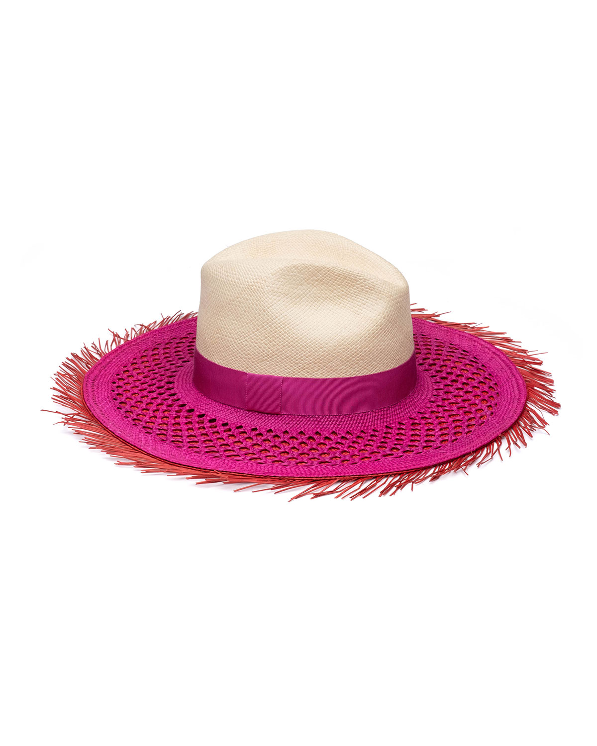 Eugenia Kim CLAUDETT LAYERED STRAW FEDORA