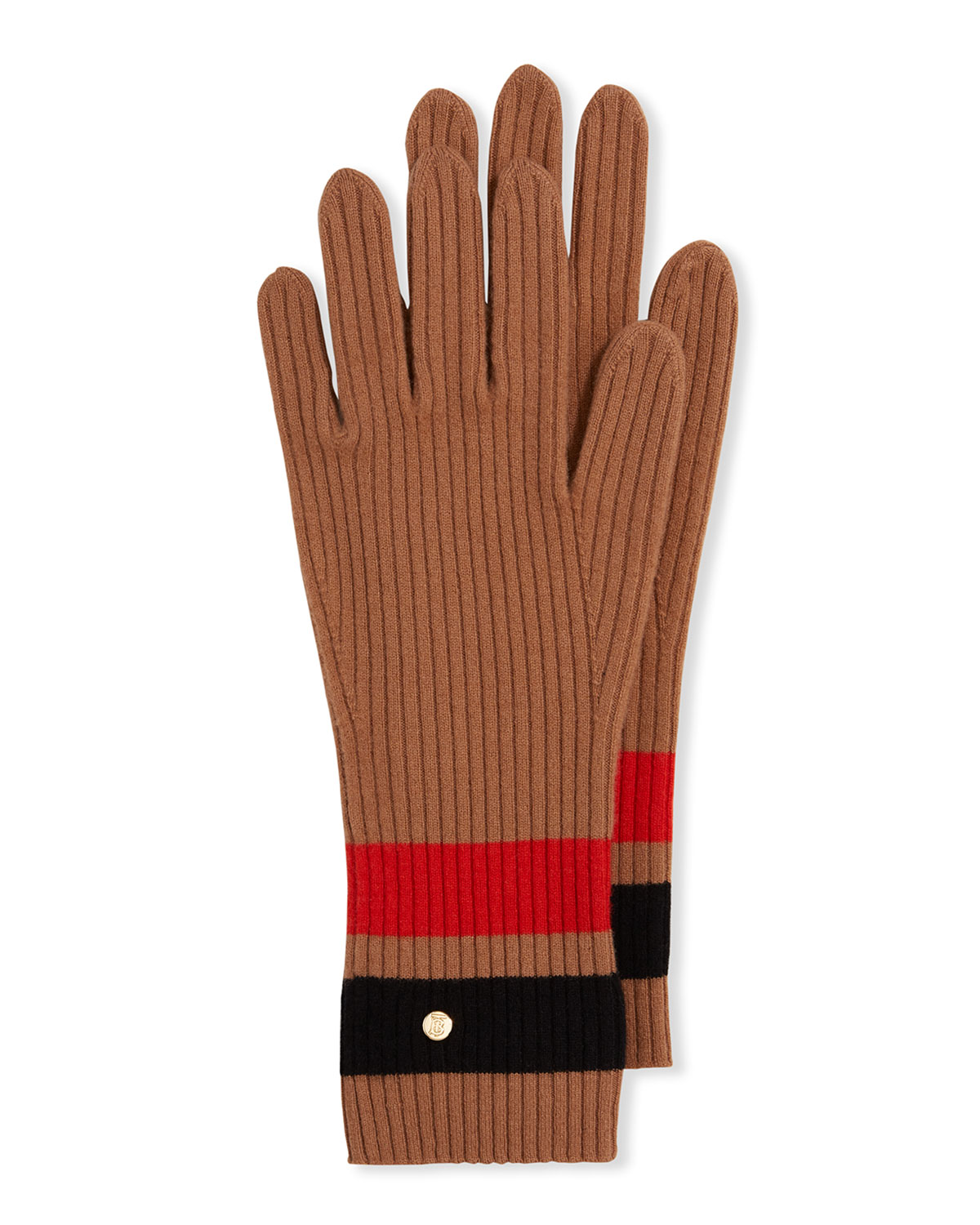 Burberry Gloves GRAPHIC STRIPE KNIT WOOL-BLEND GLOVES