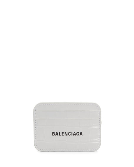 Balenciaga Cash Card Holder - Shiny Croc Embossed