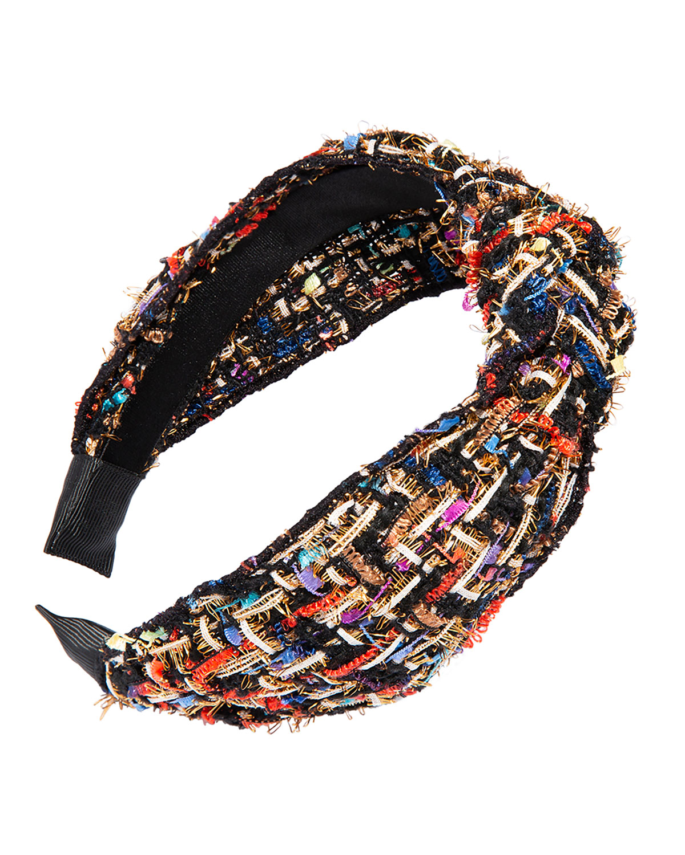 Tweed Headband w/ Knot