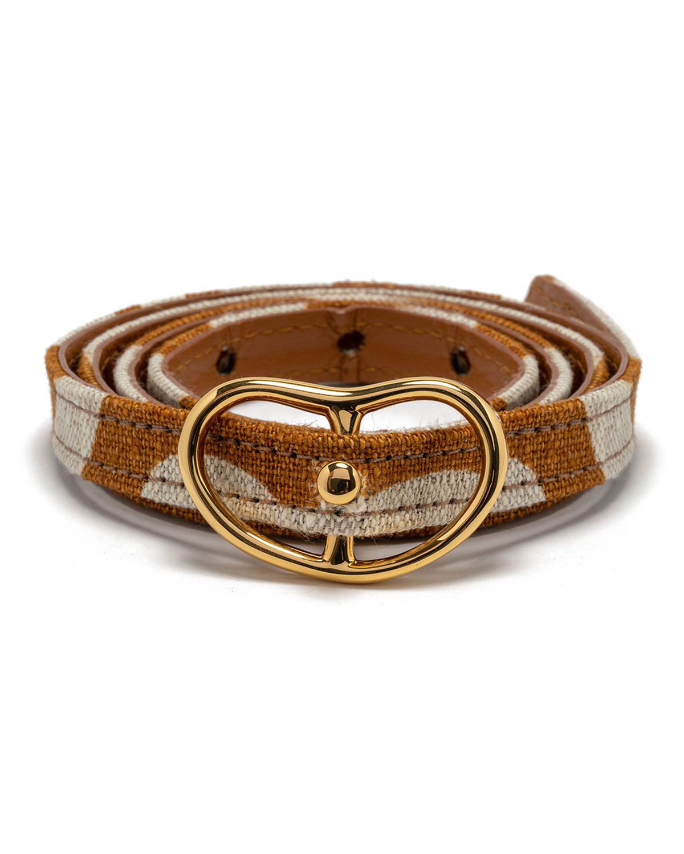 Skinny Georgia Linen/Leather Belt